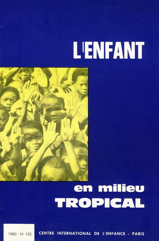 L'enfant en milieu tropical, première page de couverture, 1980