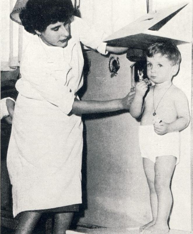 Recherches sur la croissance de l'enfant normal, vers 1950