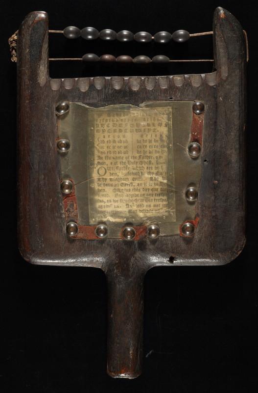 1.2.1.2. Le hornbook, ou l'ancêtre de la tablette… numérique!