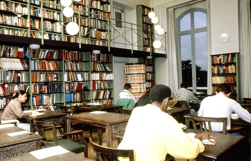 La salle de lecture vers 1980