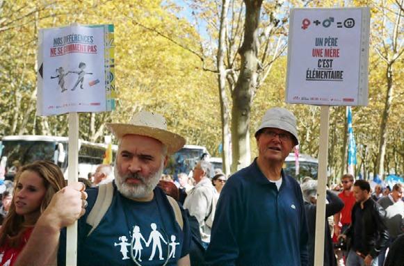 Manifestation contre le mariage pour tous