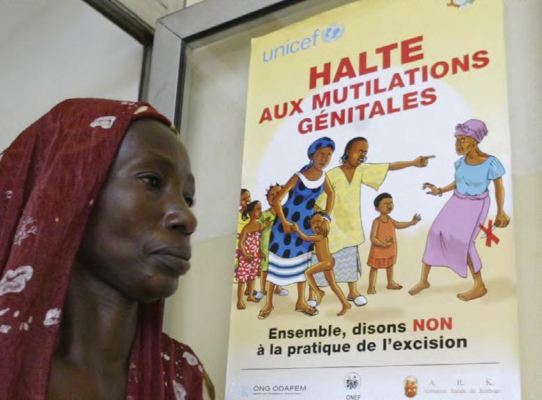 Affiche d'une campagne contre les mutilations génitales