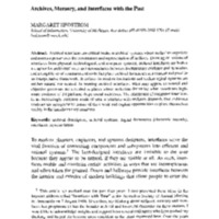 Archives, memory, and interfaces with the past - art%3A10.1007%2FBF02435629.pdf