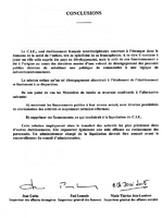 Conclusions de l'audit conduit par les ministères des Affaires étrangères, de l'Économie et des Finances, du Travail et des Affaires sociales, mars 1996