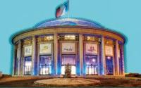 Le Conseil économique social et environnemental en bleu le 2 avril 2012 à l'occasion de la Journée mondiale de la sensibilisation à l'autisme (Autisme Grande cause 2012 J.-B. Mariou)