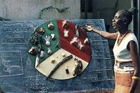 Démonstration d'éducation nutritionnelle lors d'une session de perfectionnement au Gabon dans les années 1970