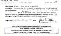 Soutien au CIE en provenance d'Uruguay, mai 1996