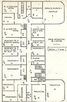 Répartition des espaces administratifs et techniques au premier étage du château de Longchamp